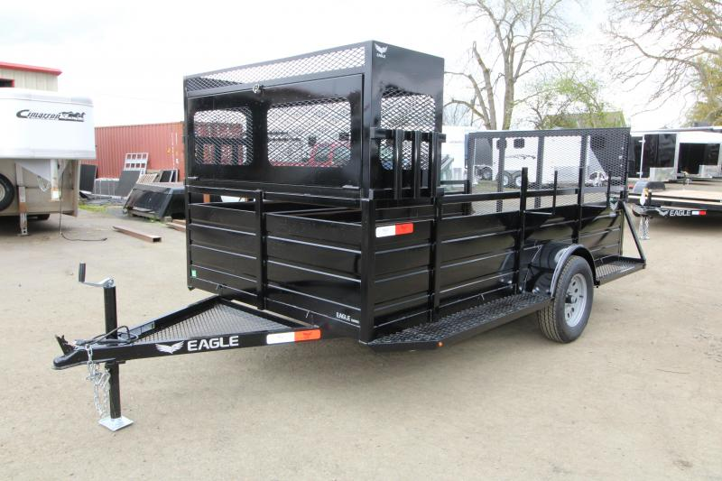 "2019 Eagle 6x12 Single Axle Ultra Classic Utility Trailer with Landscape Package - 2'x2' Front opening lockable tool box with 6"" Tray on top - 6 Shovel & Rake holders - Ladder rack - Trailer brakes - Ribbed metal sids - 2x6 Fir decking"