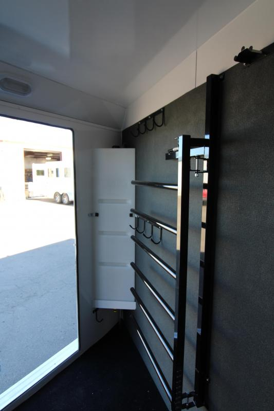 2019 Trails West Sierra Select 2 HorseTrailer - Vaccume Bonded Aluminum Construction -  Swing Out Saddle Rack - Fully Lined and Insulated