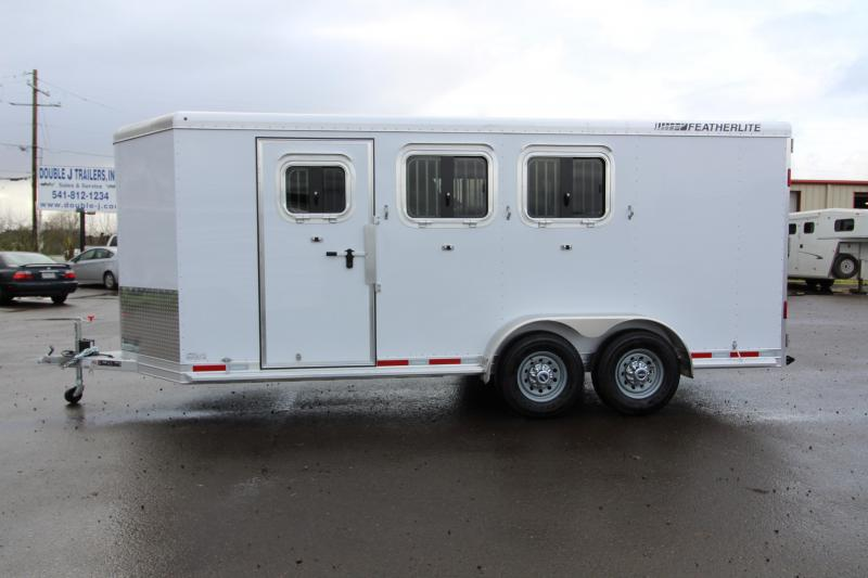 2018 Featherlite 9409 3 Horse Bumper Pull Trailer - All Aluminum - 7' Tall - First Stall Escape Door