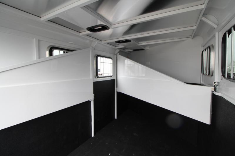 2019 Trails West Adventure II MX 3 Horse Trailer - Windows in Rear Doors - Swing out Saddle Rack
