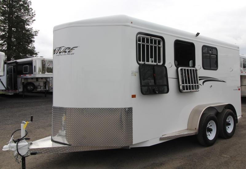 2019 Trails West Adventure II MX 3 Horse Trailer - Windows in Rear Doors - Swing out Saddle Rack