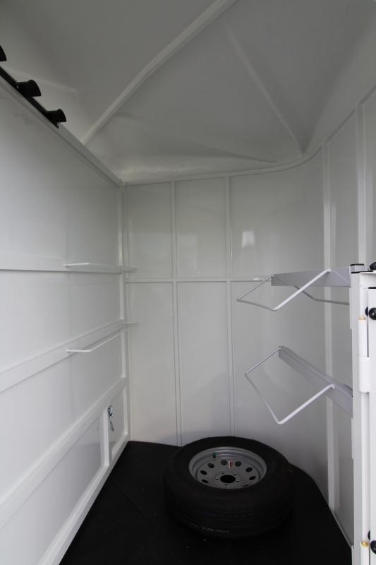 2019 Thuro-Bilt Wrangler 2 Horse Trailer - 7' Tall - Extra Divider Catch - Swinging Tack Wall - LED Load Light