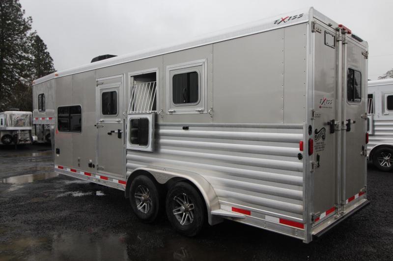 2019 Exiss 7306 - 6ft sw Living Quarters 3 Horse Trailer