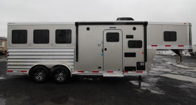 2019 Exiss 7306 - 6ft sw Living Quarters 3 Horse Trailer