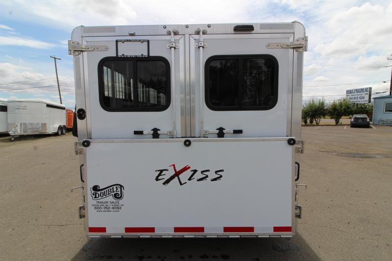 2020 Exiss Exhibitor 7024 Livestock Trailer- Call for Price - Removable 10 Pen System - Rear Ramp - Tack Room - Drop down windows - Escape door - Pass through door
