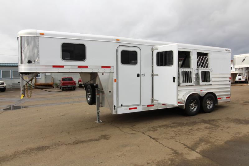 "2018 Exiss 7300  - 3 Horse Trailer - All Aluminum - Stud Wall - UPGRADED Easy Care Flooring - 7'8"" Tall"