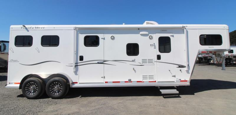 2020 Trails West Classic 10x10 Living Quarters 2 Horse Trailer w/ Side Tack