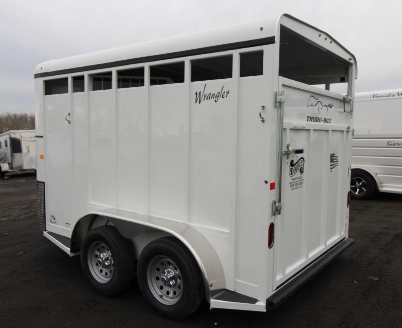 2019 Thuro-Bilt Wrangler 2 Horse Trailer w/ swing out saddle rack