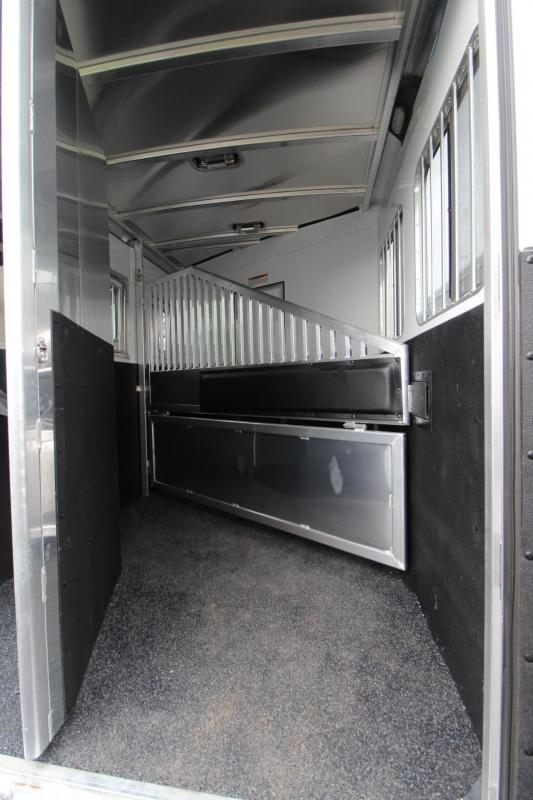 2019 Exiss Escape 7204 - 4ft S.W. Living Quarters 2 Horse Trailer - Easy Care Flooring