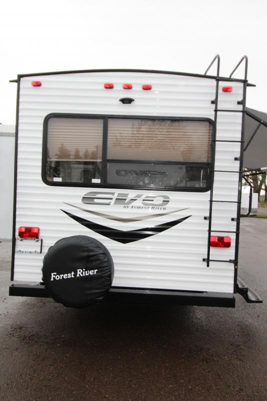 2018 Forest River EVO Travel Trailer 2460 - Arctic Package - Slide out with Dinette and Sofa - Recliner Chairs - Golden Ash Interior Decor - PRICE REDUCED BY $1000