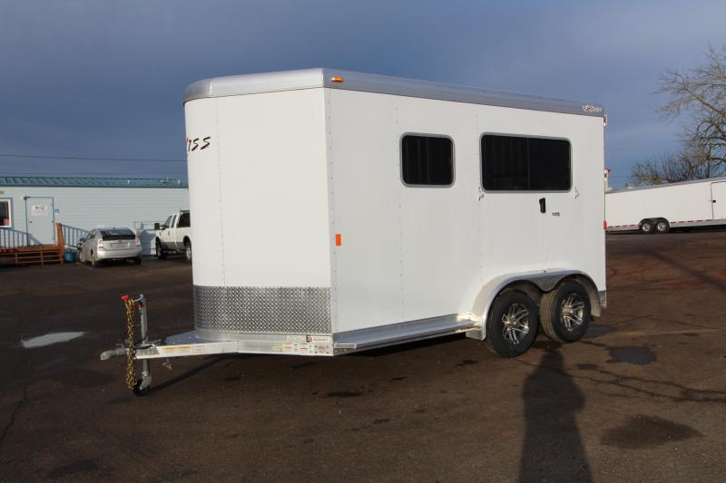 "2019 Exiss Trailers 722 Straight Load Horse Trailer - Rear Ramp - All Aluminum - 7'8"" Tall"