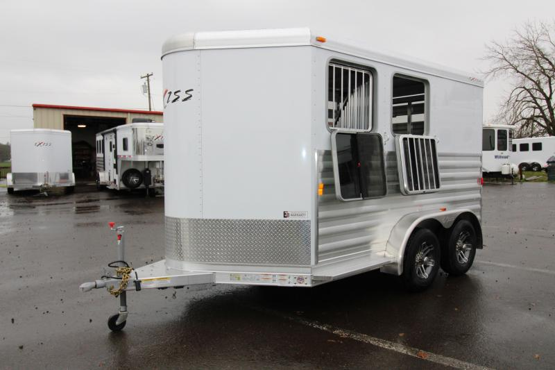 2018 Exiss Express CXF 2 Horse Trailer - All Aluminum - Fully Enclosed Tack - Air Flow Divider - Drop Down Head Side Windows - Plexi Glass Slats Tail Side - PRICE REDUCED BY $1100 in New Pine Creek, OR