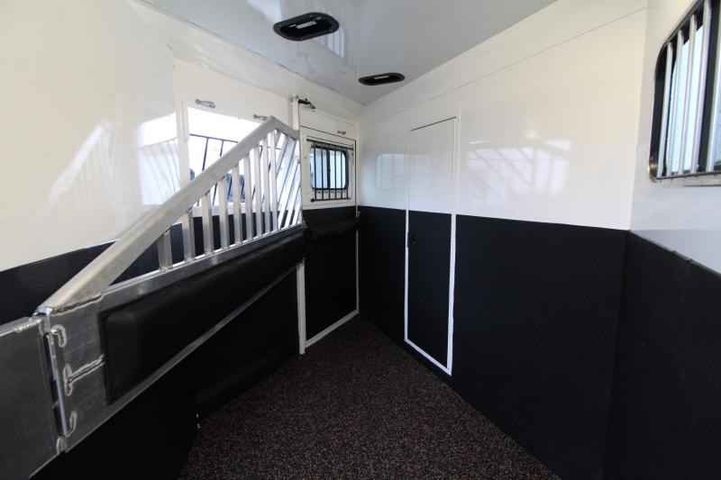 2019 Trails West Sierra 8x13 Living Quarters w/ slide 2 Horse Trailer