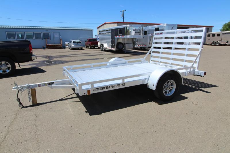 2019 Featherlite 1693 Utility Trailer - 10' Long - Rear Ramp - All Aluminum Construction - PRICE REDUCED $200