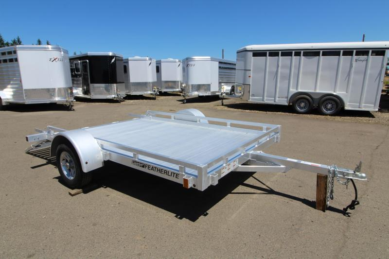 2019 Featherlite 1693 Utility Trailer - 10' Long - Rear Ramp - All Aluminum Construction - PRICE REDUCED