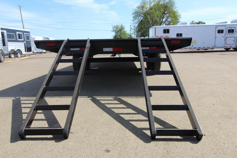 2019 Eagle 8.5x20 Deckover Trailer - With Ramps - 5200 lb Spring axles - 2x6 Fir Decking - 6' Heavy duty ramps - Ramp storage underneath!