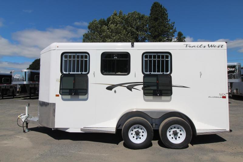 2020 Trails West Adventure MX II 3 Horse Trailer - Steel Frame Aluminum Skin