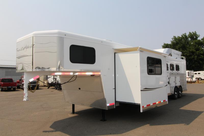 2019 Trails West Sierra 3 Horse Trailer - 15x19 LQ with Slide Out - Oven - Generator Ready - Hay Rack - Mangers - Upgraded Premium Western Interior in OR
