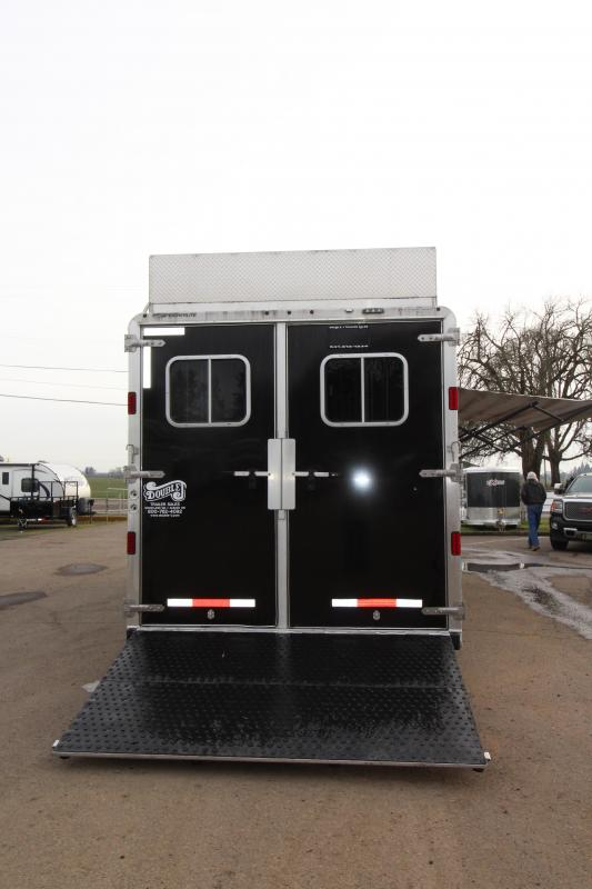 2016 Featherlite 9821 11' SW LQ with Slide Out 3 Horse Trailer - With Rear Ramp - Mangers - and Custom Diamond Plate Hay Rack - REDUCED PRICE
