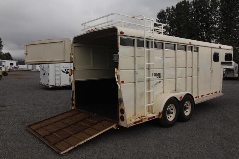 1996 Logan Coach 4 Horse Gooseneck Horse Trailer W/ Ramp & Hayrack
