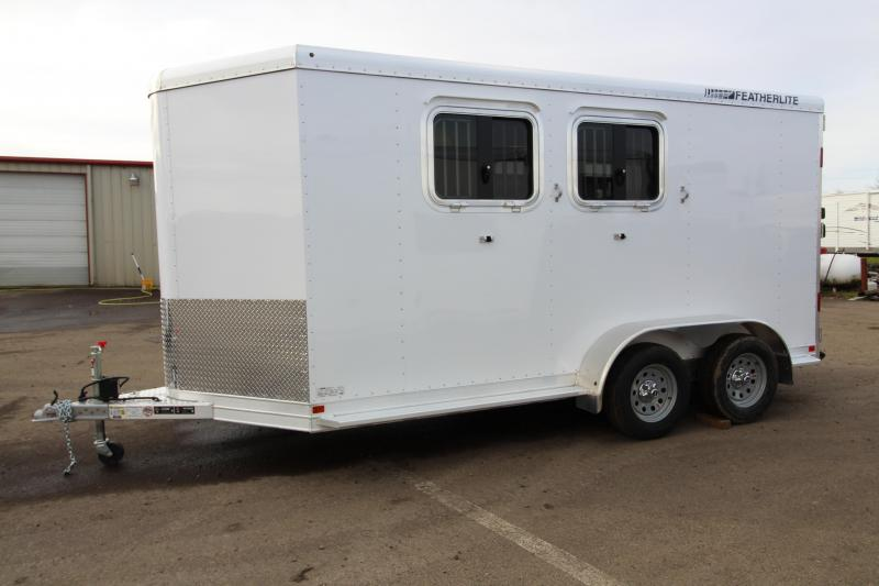 2017 Featherlite 9409 2 Horse Bumper Pull Trailer - All Aluminum - 7' Tall - Roomy Tack Room with Swing Out Saddle Rack $Reduced $1000 in Garibaldi, OR