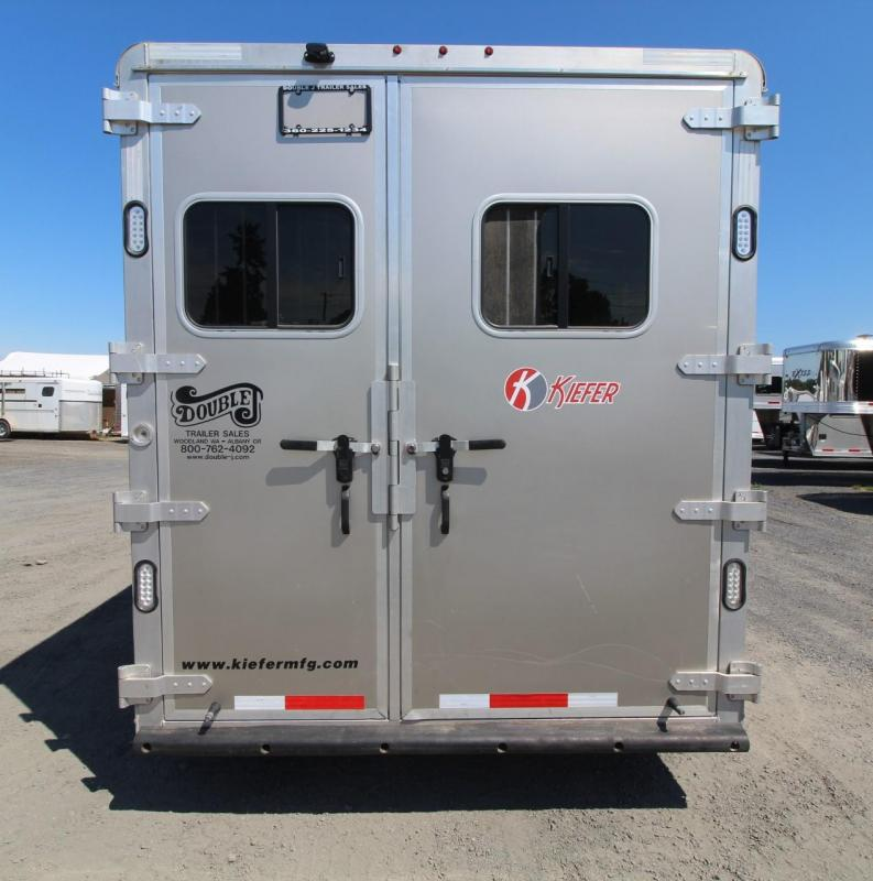 2014 Kiefer Freedom 7308 Living Quarters Aluminum 3 Horse Trailer