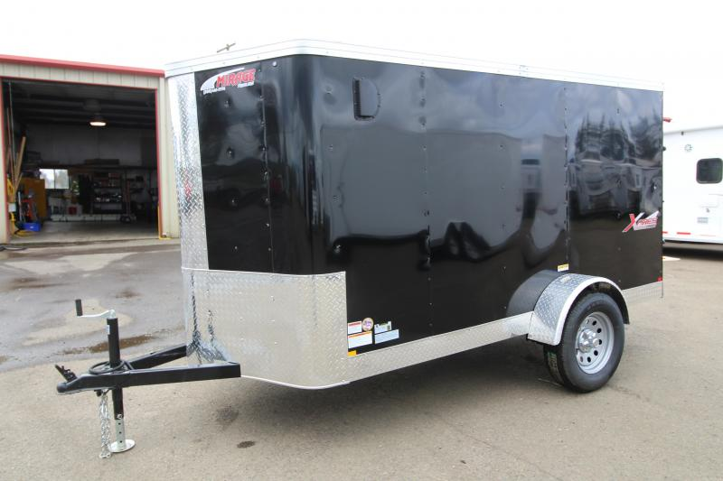 2019 Mirage Trailers Xpres- 5x10 Single Axle Enclosed Cargo Trailer - Black Exterior Color - Single Rear Door