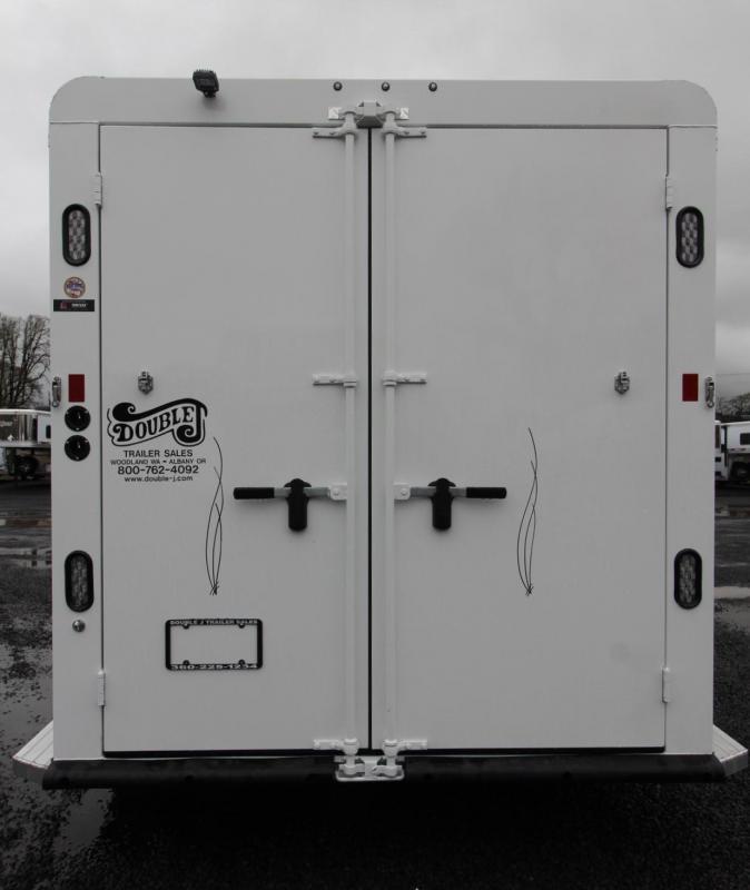 2019 Trails West Classic II 3 Horse Trailer Aluminum Skin Steel Frame