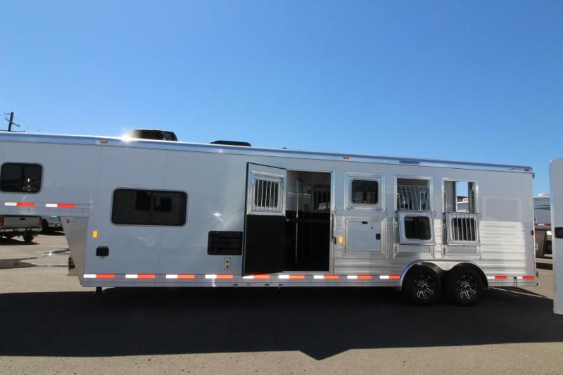 2018 Exiss 8410 10 ft LQ 4 Horse Trailer - All Aluminum - 7'8
