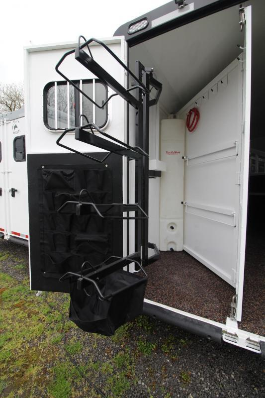 """2017 Trails West Sierra 8x13 -8' Short Wall- Slide Out - 7'6"""" Tall - Hoof-Grip Easy Care Flooring - Mangers - Escape door 4 Horse LQ Trailer PRICE REDUCED $2332"""