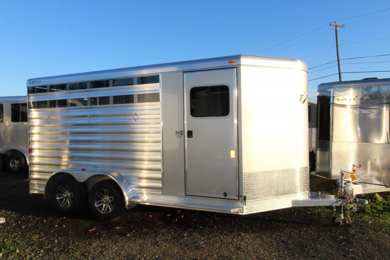 2018 Exiss Express CXF 3 Horse Trailer - Drop Down Head Side Windows w/ Tail Side Plexi Glass Inserts for Air Gaps - Enclosed Tack Room - Air Flow Dividers - PRICE REDUCED BY $1100