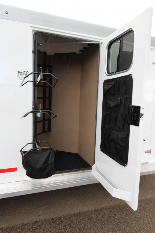 2019 Trails West Sierra 3 Horse  - Comfort package 5x5 Silver Roof - Steel Frame Aluminum Skin - Lined and Insulated Horse Area Ceiling and Walls