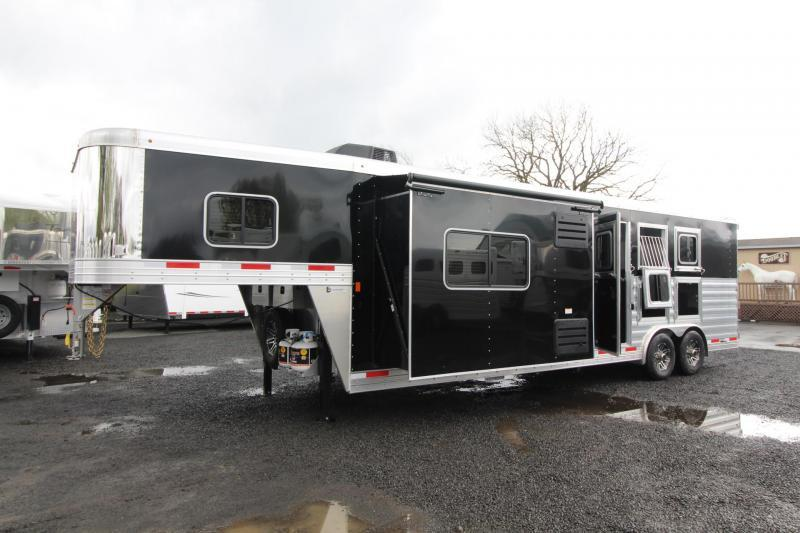 2019 Exiss Trailers Endeavor 8312 Horse Trailer W/ 12' SW  Slide - Easy Care Flooring PRICE REDUCED $1195