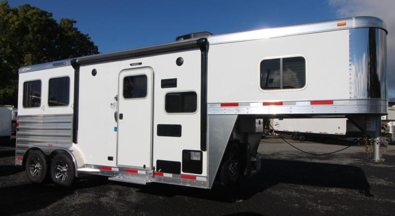 2019 Exiss Escape 7206 - 6ft short wall LQ - 2 Horse Trailer - Lined & Insulated Ceiling - Easy Care Flooring