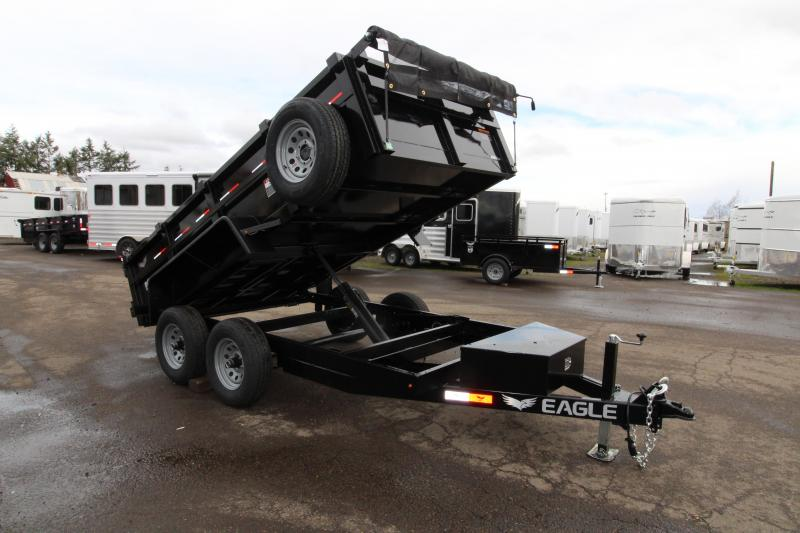 2019 Eagle 6x12 Tandem Axle Dump Trailer 10k w/ Mesh Roll Tarp Cover
