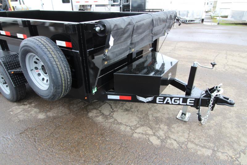 2019 Eagle 6x12 Tandem Axle Dump Trailer 10k w/ Mesh Roll Tarp Cover