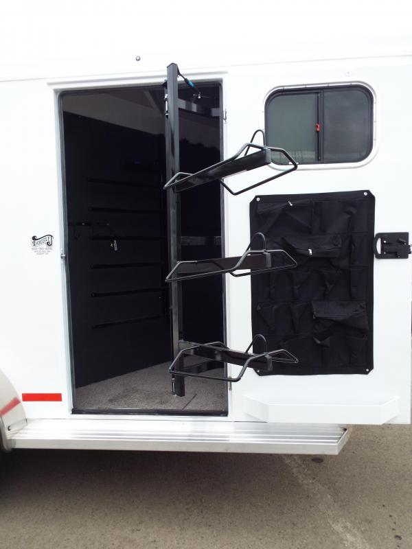 2017 Trails West Santa Fe 14 ft Gooseneck 2 Horse Trailer - Aluminum Exterior Extrusions -  Escape Door - Swing Out Saddle Rack - PRICE REDUCED BY $850
