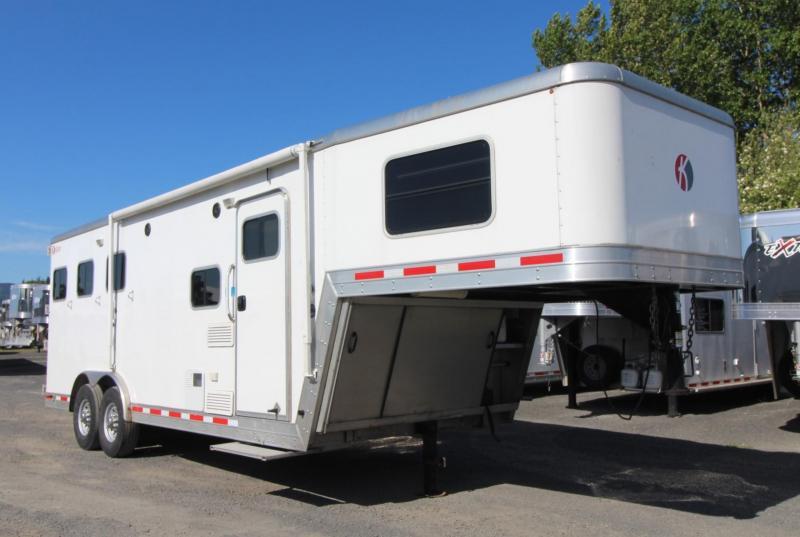 2014 Kiefer 8306 - 6'sw Living Quarters 8' wide 3 Horse Trailer w/ Ramp