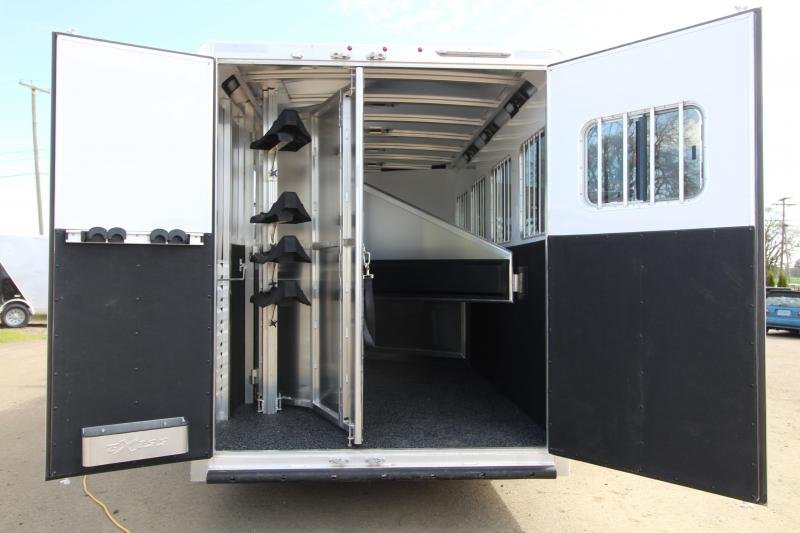 "2019 Exiss 7410 - 10' SW LQ with Slide Out 4 Horse All Aluminum Trailer - Easy Care Flooring Upgrade - Upgraded Interior - Dinette - Stud Wall - Escape Door - 7'8"" Tall"