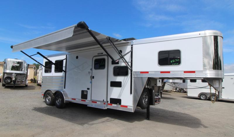 2019 Exiss Trailers 7208 - 8ft sw Living Quarters 2 Horse Trailer