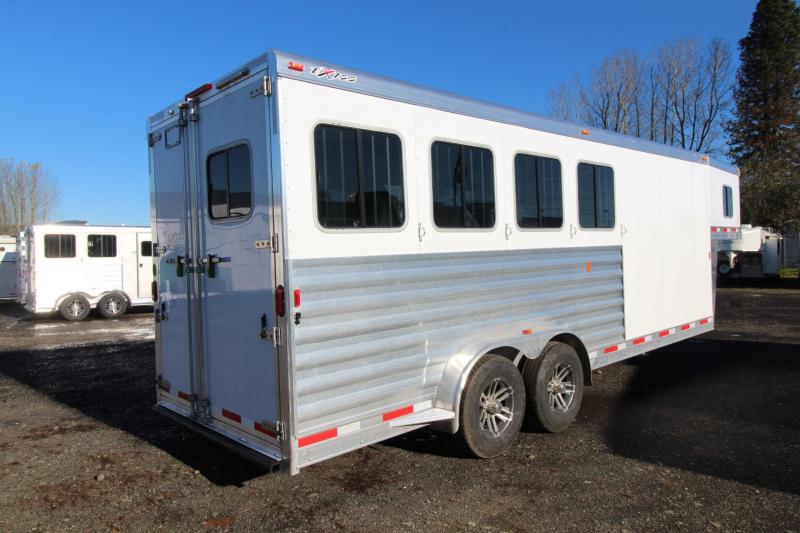 "2018 Exiss 7400 - 7'6"" Tall 4 Horse Trailer - Rear Tack - Polylast Flooring - Jail Bar Dividers PRICE REDUCED $1000"