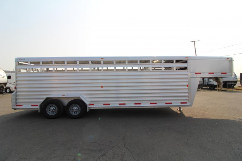 "2019 Exiss 7024 Livestock Trailer - 6'8"" Tall - Sliders in Center Gates -"