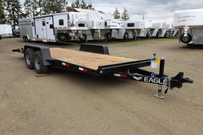 2019 Eagle Trailer 7 x 18 Tandem Eagle Tiltbed 10K Flatbed Trailer