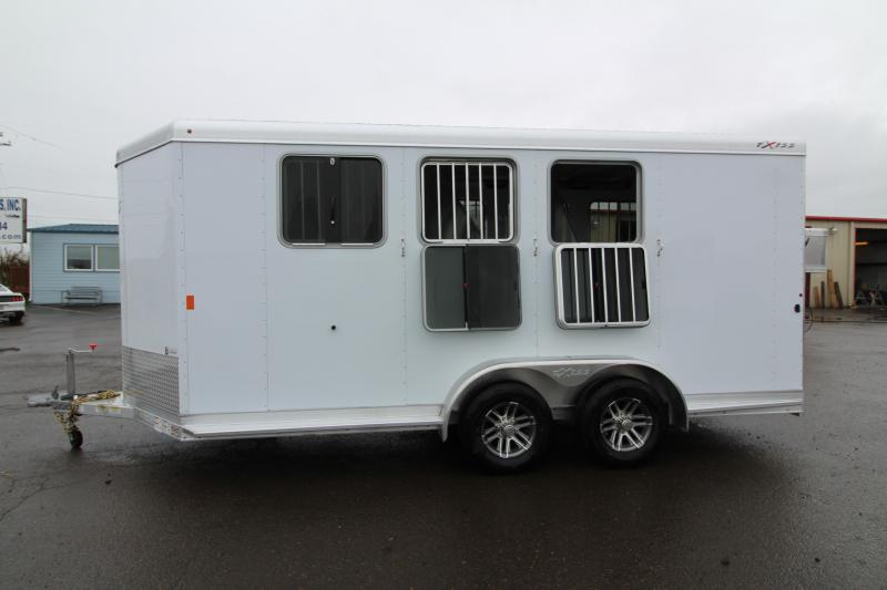 2019 Exiss 730 - 3 Horse Bumper Pull - Folding Back Tack - Easy Care Flooring - 2' Shortwall Dressing Room