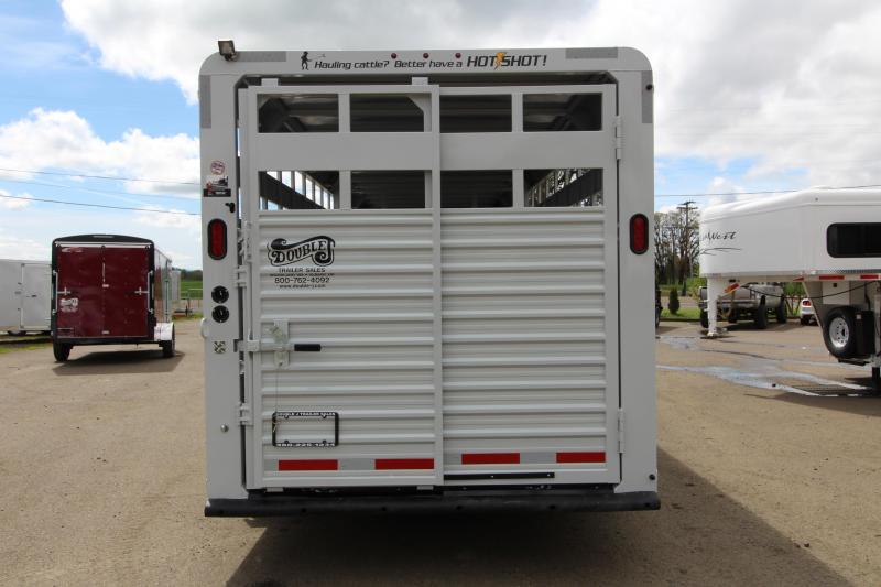 2019 Trails West 24' Hotshot Steel Livestock Trailer - Solid Center Gate - Rear Gate with Slider