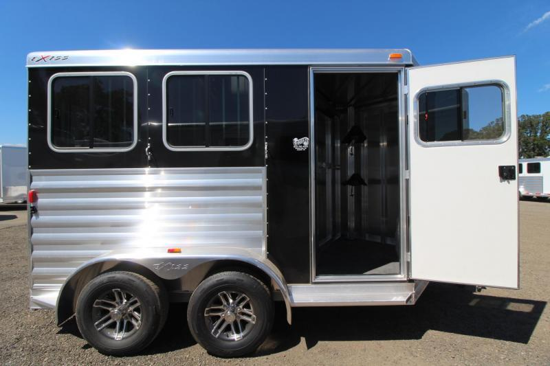 2018 Exiss Express XT - Polylast Flooring REDUCED $1000 - 2 Horse Trailer Extruded Aluminum Black Side Sheets