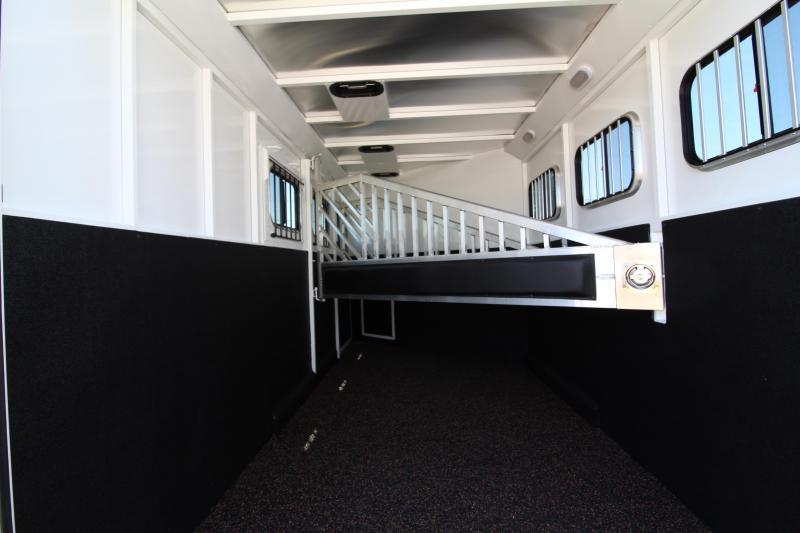 2018 Trails classic 12x12 Living Quarters 3 Horse Trailer W/ Slide out - Hoof Grip Easy Care Flooring - Side Tack - Escape Door