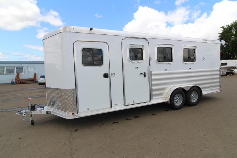 "2020 Featherlite 9551 - 3 Horse Trailer - WARMBLOOD SIZED - 7'6"" Tall and Wide - All Aluminum - Swing Out Saddle Rack - HUGE Tack Room"