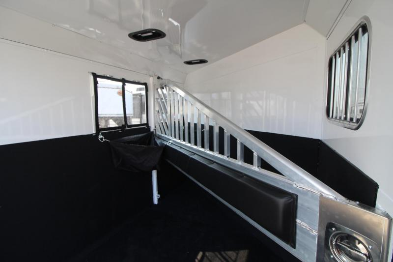 2018 Trails West Sierra Select - Seamless Aluminum Vacuum bonded walls and roof - 2 Horse Trailer