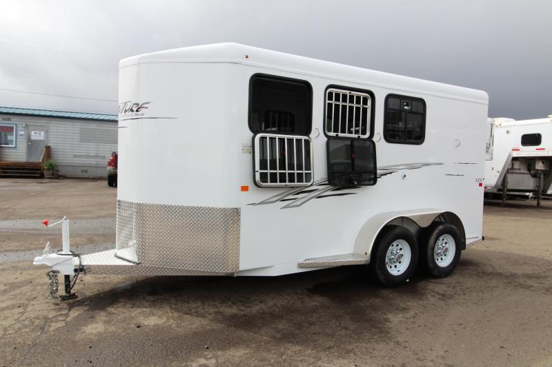 2018 Trails West Adventure MX - Aluminum Skin - Convenience Pkg - 3 Horse Trailer - Windows in Rear Doors